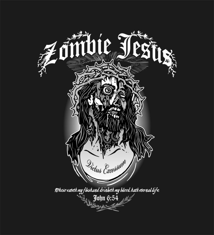 Zombie Jesus T-Shirt - Classic Tattoo Design by TRUST